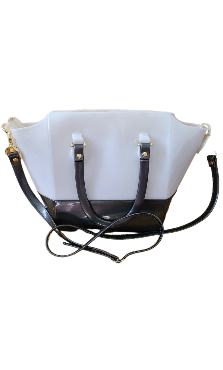 Lulus Handbag Silvery and White Pearl