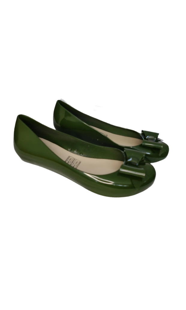 Sags Flats British Green with Bow