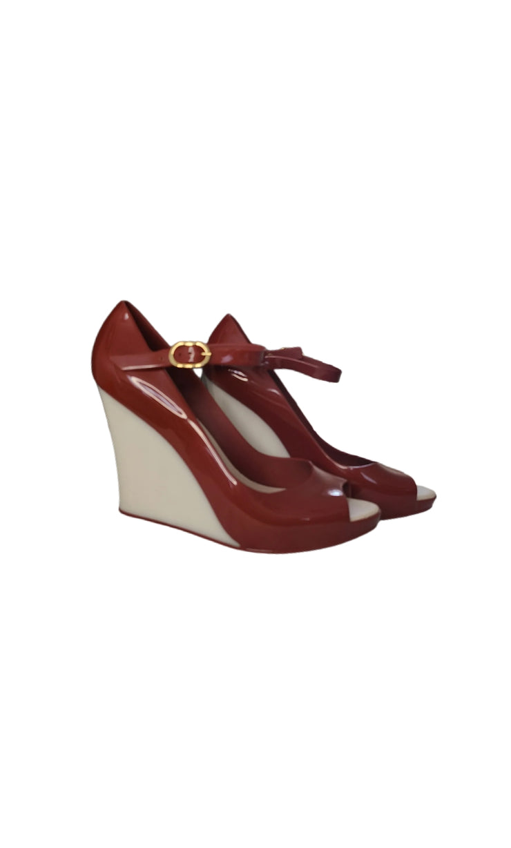 "Sags Wedges 4 "" Wine and Pearl"