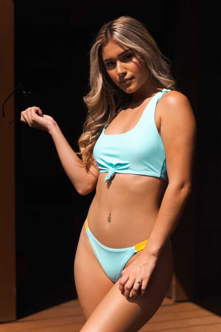 Girls just want to have Fun Baby Blue / Two Tone Brazilian Cut Bottom