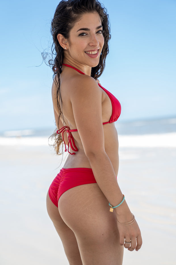 Rose Red Bikini Bottom