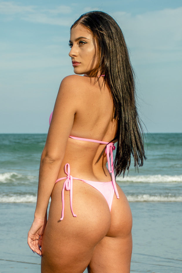 Pretty in Pink Bikini Brazilian Bottom