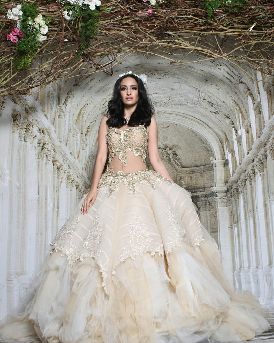 Elegant Embroidered Ballgown - Archana Kochhar India