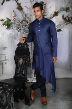 Load image into Gallery viewer, The Asymmetric Polemiko Kurta and Bandi - Archana Kochhar India