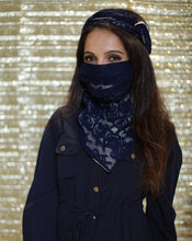 Load image into Gallery viewer, The Sapphire Lace Scarf-Mask