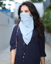 Load image into Gallery viewer, The Mint Blue Scarf-Mask