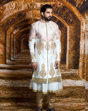 Load image into Gallery viewer, Regal White Sherwani - Archana Kochhar India