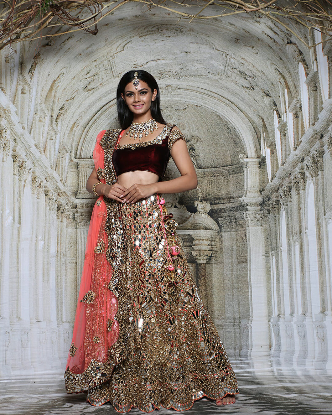The Sheesh Mahal Lehenga