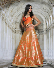 Load image into Gallery viewer, The Coral Bow Lehenga