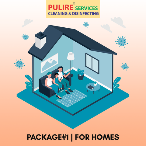 Package#1 | Disinfection services for HOME (Rs.3/Sq. foot)