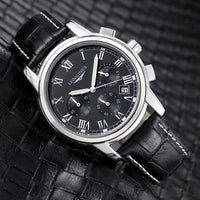 Longines Master Collection Men's Black Leather Strap Watch-thumbnail