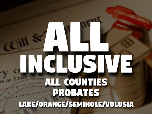 All Inclusive - All Counties - Probates