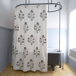 Veronique Shower Curtain in Grey