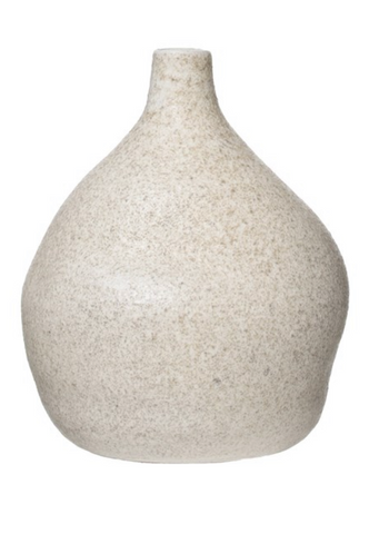 Terra-cotta Vase Distressed Cream Glaze