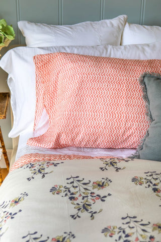 KC Pink Ikat Pillow Case