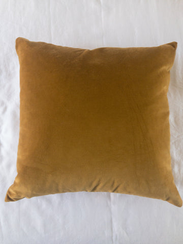 "22"" Rusted Gold Velvet Pillow (cover only)"
