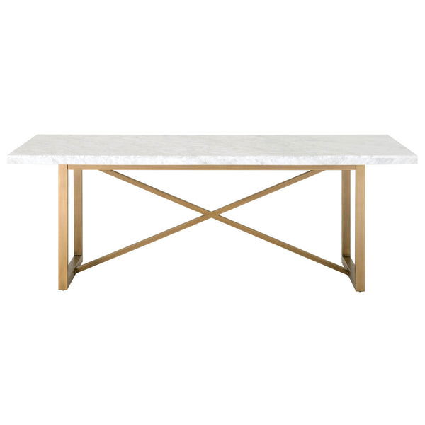 Matteo Carrera Marble and Brushed Gold Dining Table