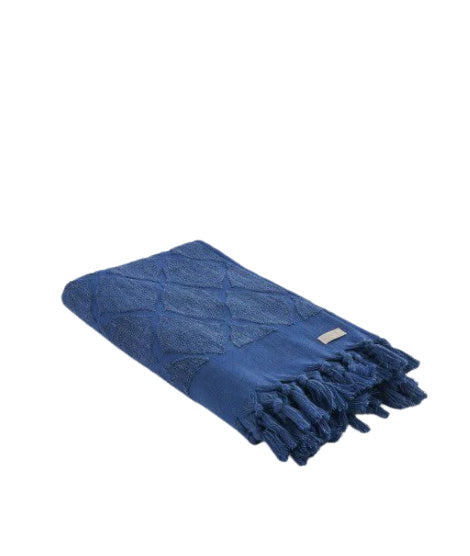 Columbus/Jacquard Towel Royal Blue
