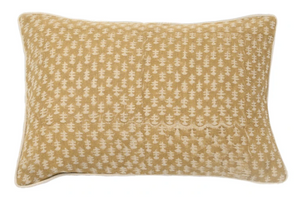 "Fall 2020 Indian Blockprint pillow - Mustard Fleur - 14"" x 20"" lumbar"