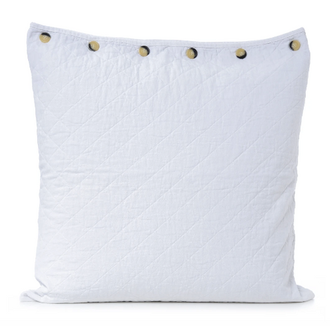 Quilted Euro Sham - bleach white