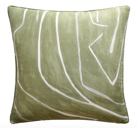 Graffito Dec Pillow in Fern - Feather Insert Included