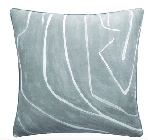 Graffito Dec Pillow in Deep Sky - Feather Insert Included