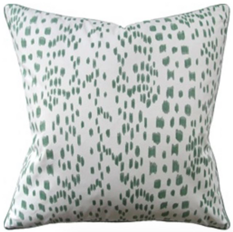 Les Touches Pillow in Green
