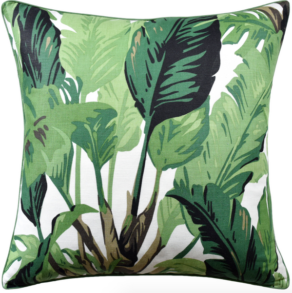 Travelers Palm Pillow in Green