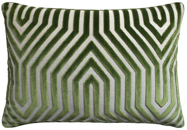 Vanderbilt Velvet Pillow in Green