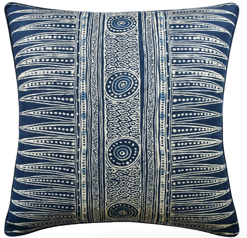 Indian Zag Pillow in Indigo