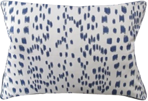 Les Touches Pillow in Blue