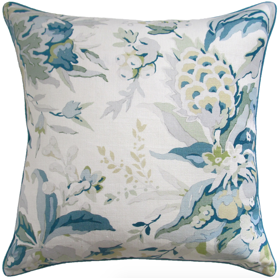 Horseshoe Bay Pillow in Aqua
