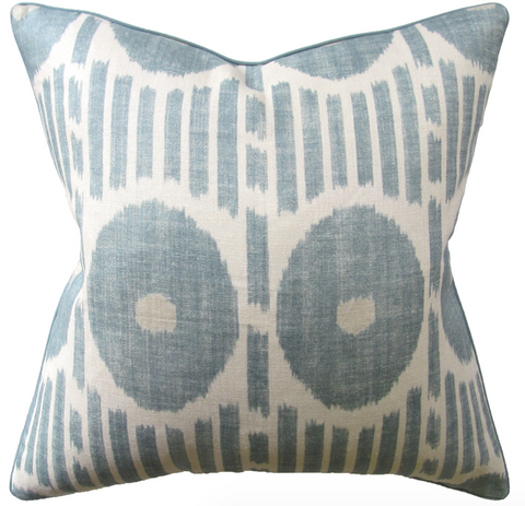 Mesa Ikat Pillow in Aqua
