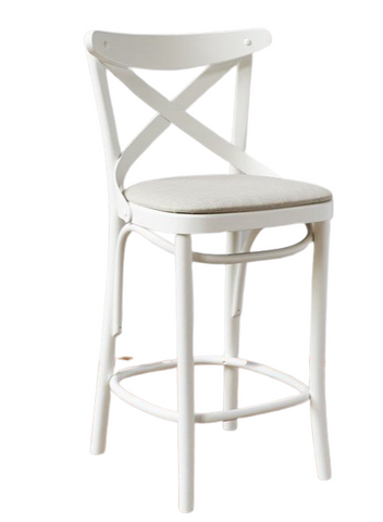 French X-Back Cafe Counter Stool