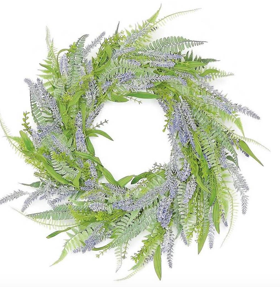 Lavender and Fern Wreath