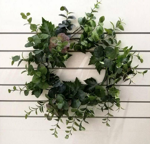 Eucalyptus and Grapeleaf Wreath