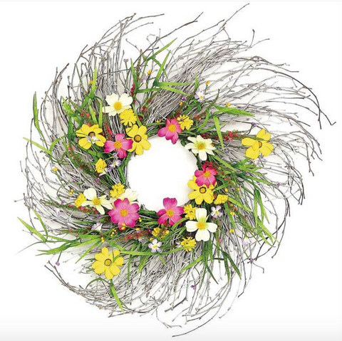 Boho Cosmos and Wildflower Wreath