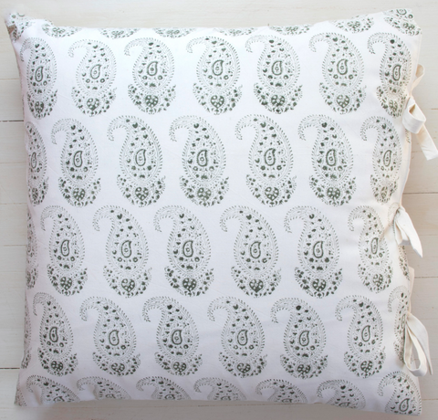 Claudine Deco Pillow in Olive