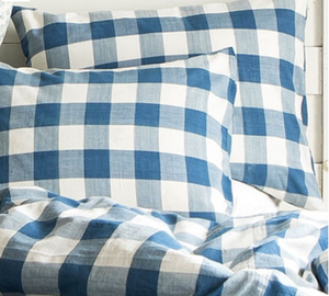 Indigo Check Standard Pillow