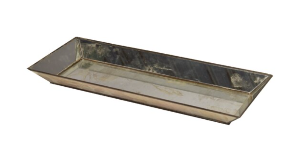 Rectangle Antique Mirror Tray