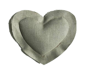 EW Lavender Heart Sachet in Natural Linen