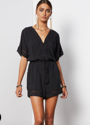 Kyra Romper in Black