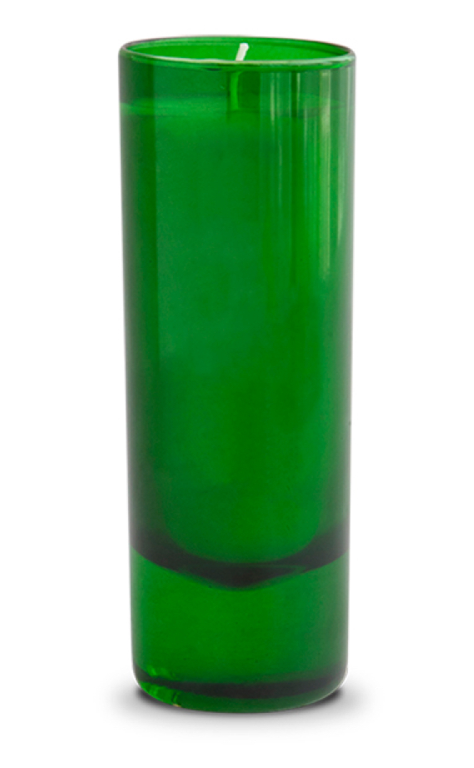 Siberian Fur Candle in Green Votive
