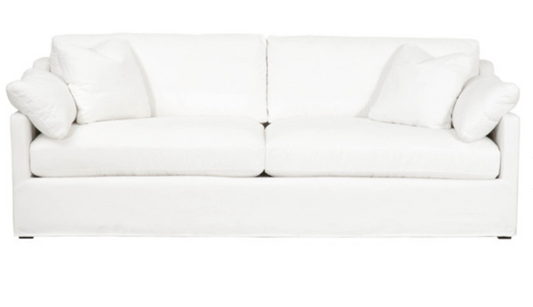 "Leanne 95"" Slope Arm Slipcover Sofa"