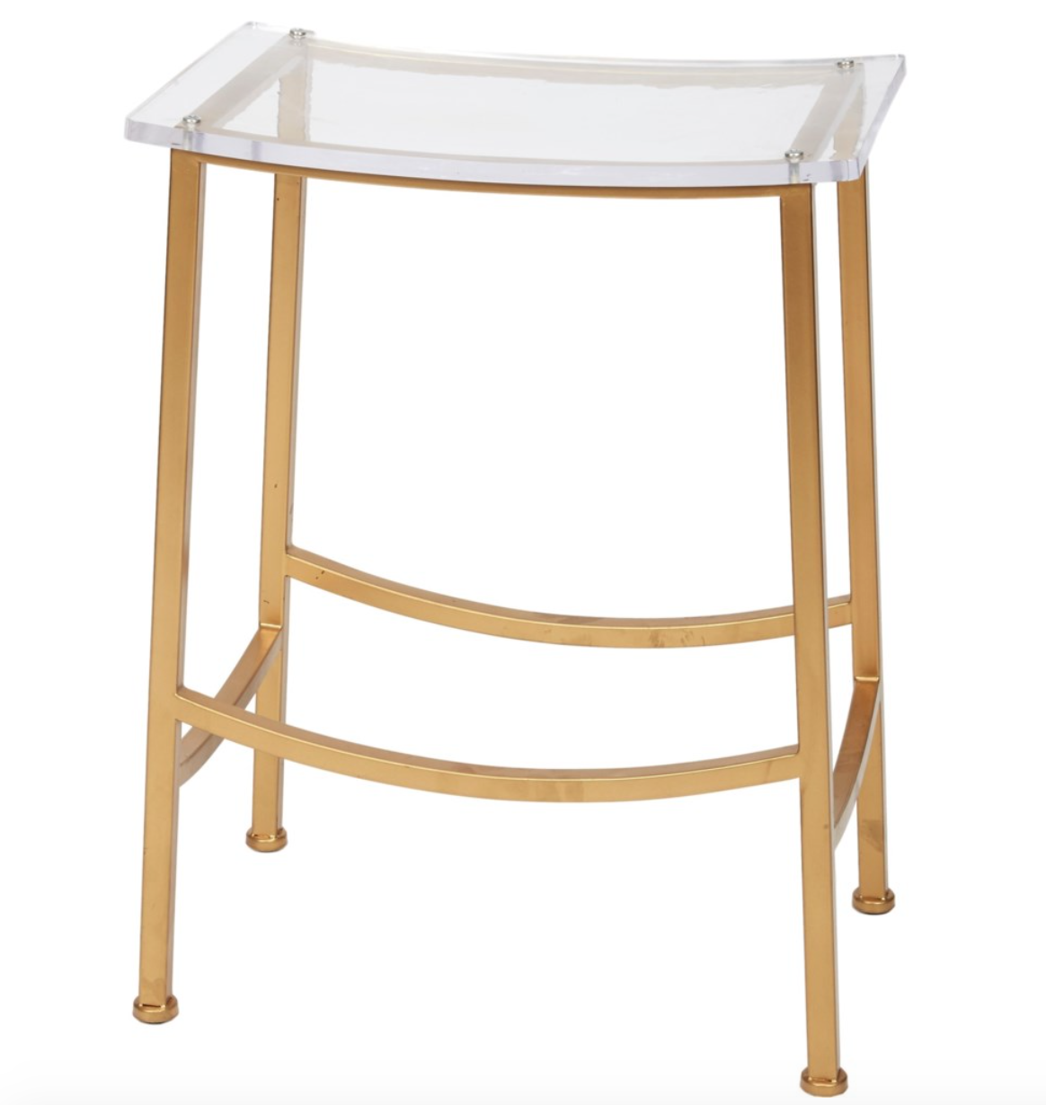 Chapman Gold & Acrylic Counter Height Stools