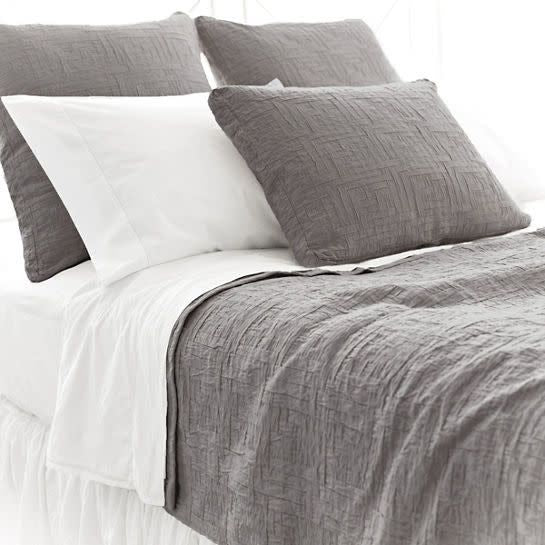 Boxed Euro Pillow Sham Baja Matelasse Anthrocite