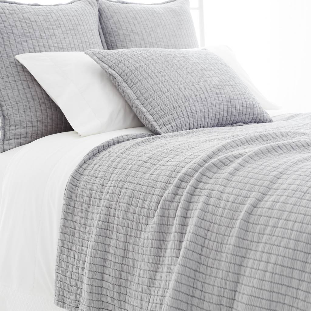 Boyfriend grey matelasse coverlet-king