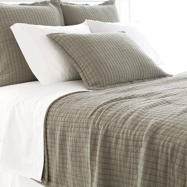 King Boyfriend Matelasse Coverlet Vetiver