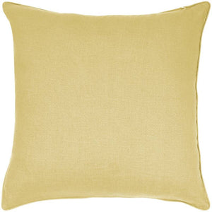 "Linen Cotton Pillow 20""- Yellow"