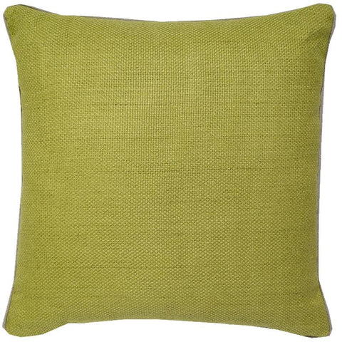 Chartruese Green Linen Basket Weave Pillow 22""